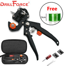 Drillforce Taman Alat Grafting Pemangkas Helikopter Vaksinasi Cutting Tanaman Pohon Secateurs Gunting Gunting + 3 Cm Grafting Tape Film(China)
