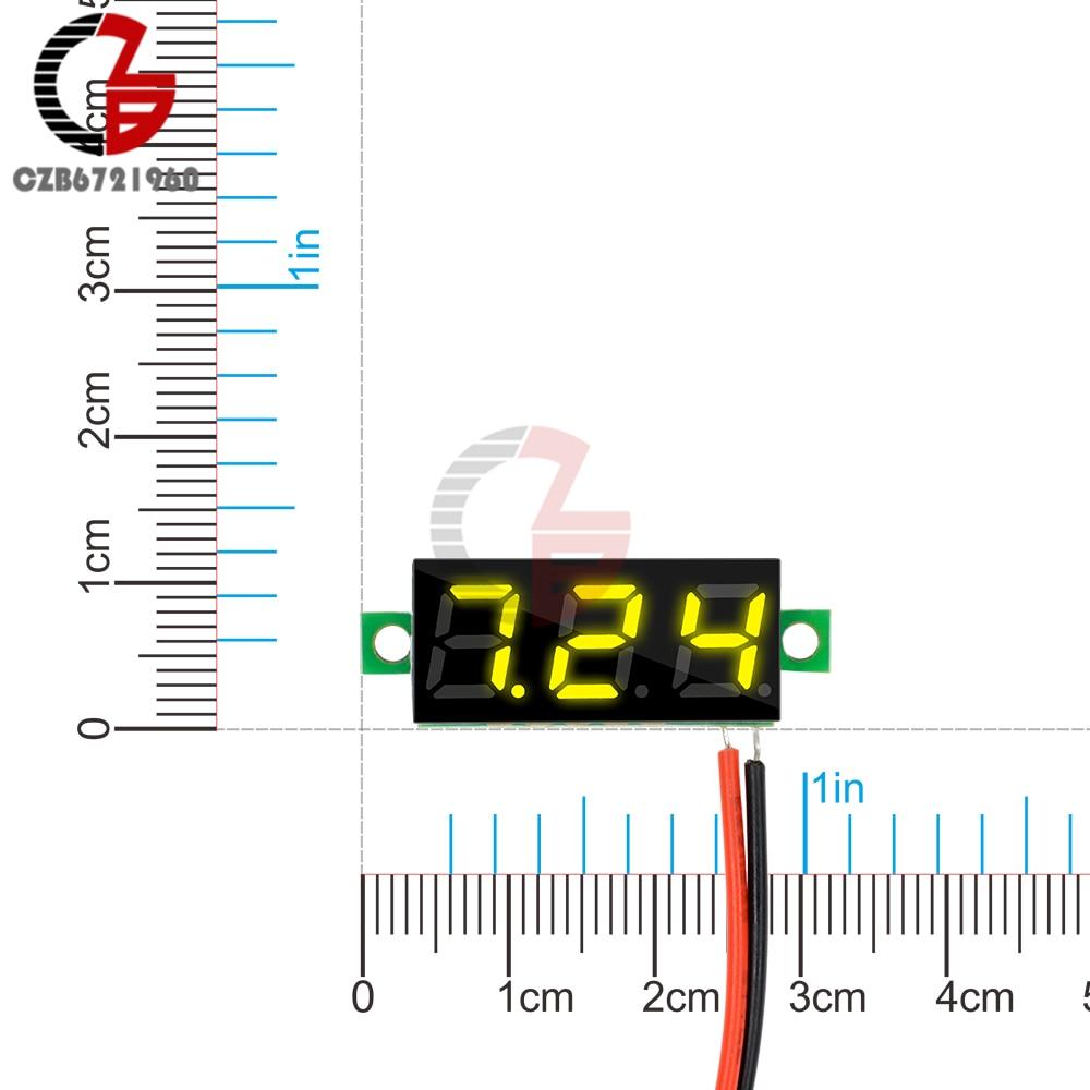 HTB1irlyVb2pK1RjSZFsq6yNlXXa2 0.28 inch DC LED Digital Voltmeter 0-100V Voltage Meter Auto Car Mobile Power Voltage Tester Detector 12V Red Green Blue Yellow