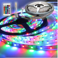 RGB 3528 SMD 60 LED / M LED Strip Light + 24key Remote Control + Free mail