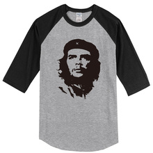 T-shirt for men 2017 summer three quarter sleeve raglan tshirt Ernesto Guevara men's sportswear crossfit harajuku top t shirt