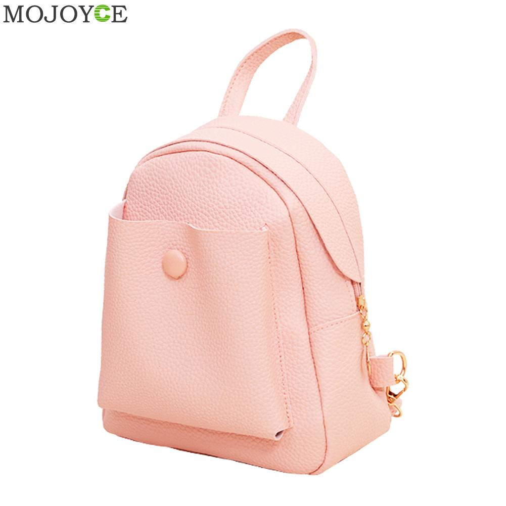 Pattern Women Backpack Leather Backpack Preppy Chic PU School Bags for Teenage Girls Schoolbag Travel Bag Mini Mochila Feminina vintage cute owl backpack women cartoon school bags for teenage girls canvas women backpack brands design travel bag mochila sac
