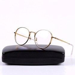 Koreanische Brille Liberty Gold Metall Kreis Runde Rahmen Gläser Brillen Frauen Mode Zubehör 2018 Myopie Brillen Rahmen