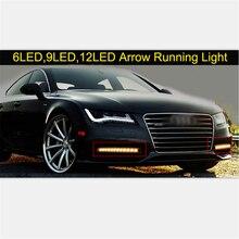 2018 DRL led Turn Signal Lights Strip Arrow Light Waterproof fog lamps White/Amber 12V LED Flowing light Car styling