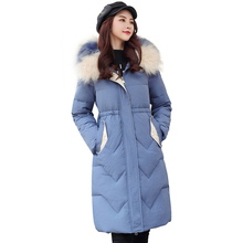 2019 Winter Women Cotton Down Jacket Plus Size 3XL Fashion Hooded Long Parkas Fur Collar Warm Jackets Winter Coat Women Clothes стоимость