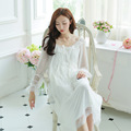 Lisacmvpnel Retro palace Style Lace Sexy Women Nightgown Soft Net Yarn Elegant Female Nightwear Casual Women Sleepwear