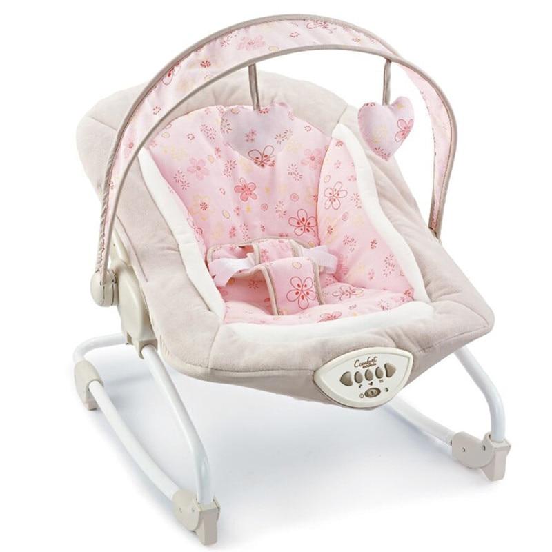 Cadeau bébé électrique chaise berçante videurs nouveaux enfants loisirs chaise bébé automatique secousses avec musique apaiser bascule inclinable