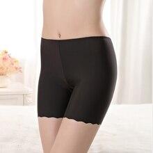 Black New Seamless Safety Short Pants Under Skirt Anti Chafing Summer Cotton Women Tight Shorts Modal Ice Silk Soft