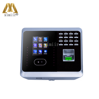 Biometric face recognition time attendance UF100 face+fingerprint+password time recording with free software WIFI time clock