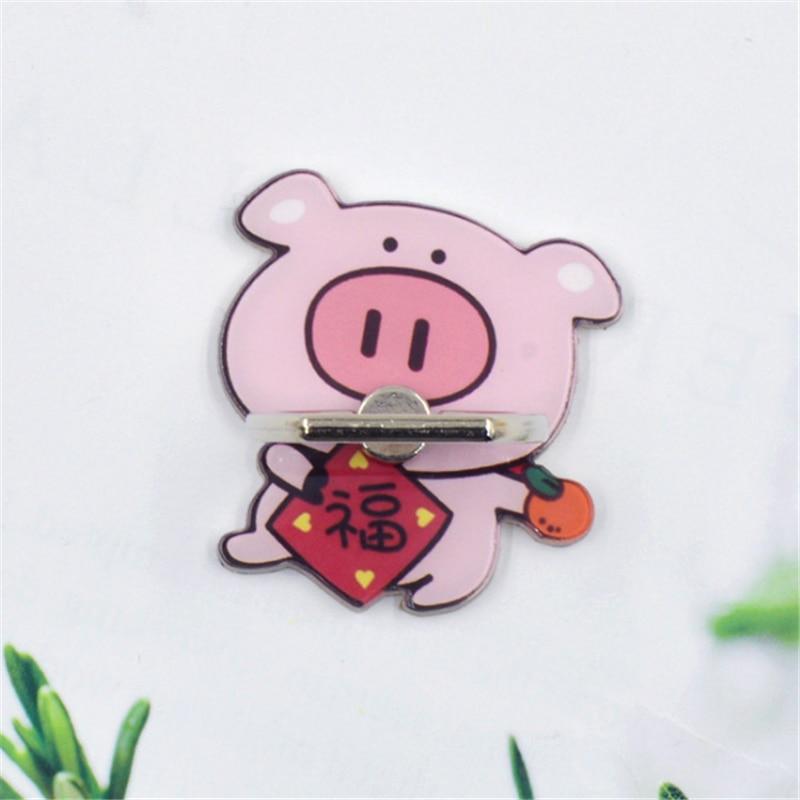 UVR Pig Mobile Phone Stand Titular Anel de Dedo Animal Mascote Leão Dança do Smartphone Phone Holder Suporte Para iPhone Huawei Todos Os telefone