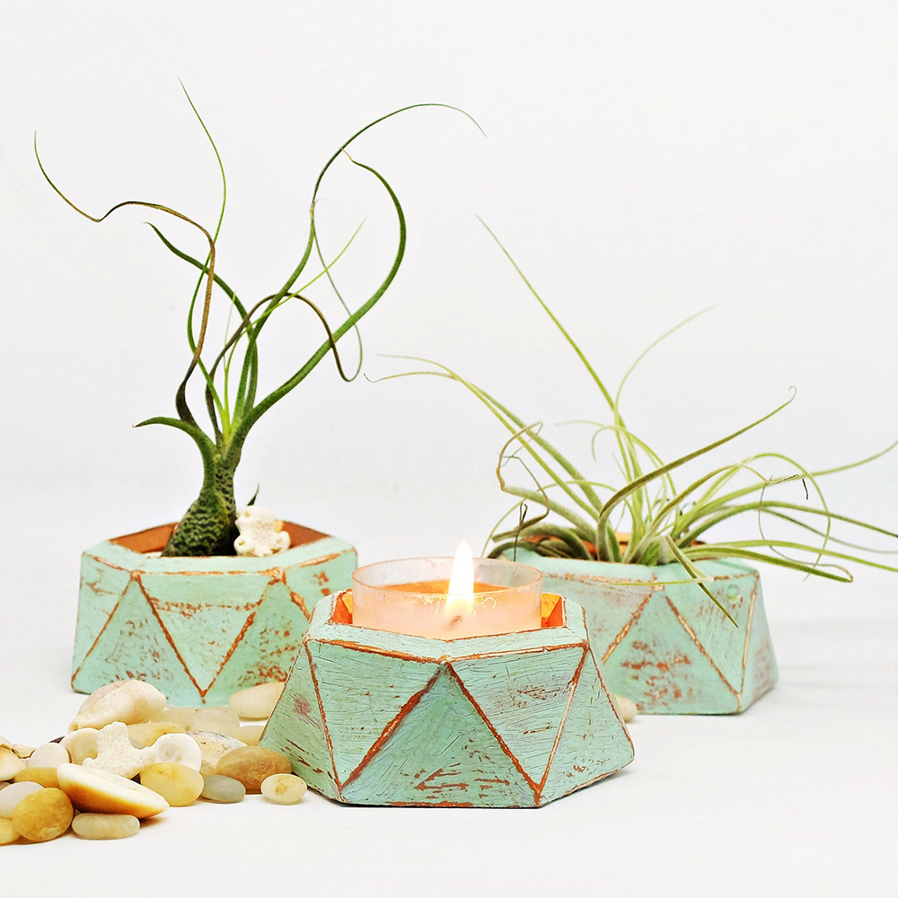 Castiçal vaso de flores molde de silicone DIY molde de concreto projeto potenciômetro do jardim do molde