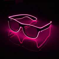 NEW Fashion 7 Colors Flashing EL Wire Led Glasses Luminous Party Decorative Lighting Classic Gift Bright Light Festival Gift
