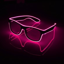 new LED Glasses 7 Colors Flashing EL Wire Led Luminous Party Decorative Lighting Classic Bright Light Christmas Gift