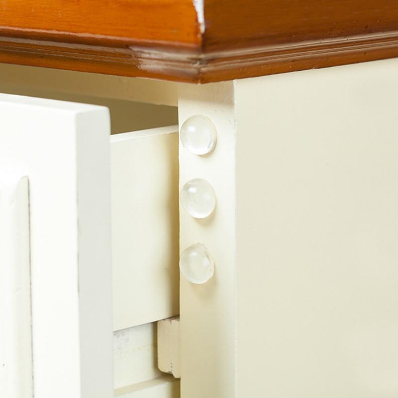 24 pièces/ensemble Transparent anti-dérapant Silicone amortisseur doux coussin pour Closestool meubles accessoires bord coins gardes (lot de 24)