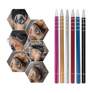 Image 1 - 1 ปากกาแกะสลัก + 10 ใบมีดTrimmersผมDIYทรงผมSalon Magicแกะสลักปากกาสแตนเลสตัดผมตัดผมกรรไกร