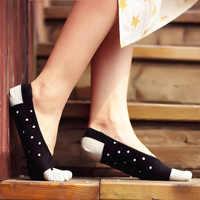 3 Pairs Five Finger Silica Gel Anti-heel Ladies Cotton Thin Boat Socks Shallow Split Toe Invisible Women Boat Socks Cute