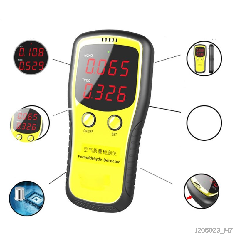 Portable LCD Digital Dioxide Meter CO2 Monitor  Indoor Air Quality Formaldehyde Detector