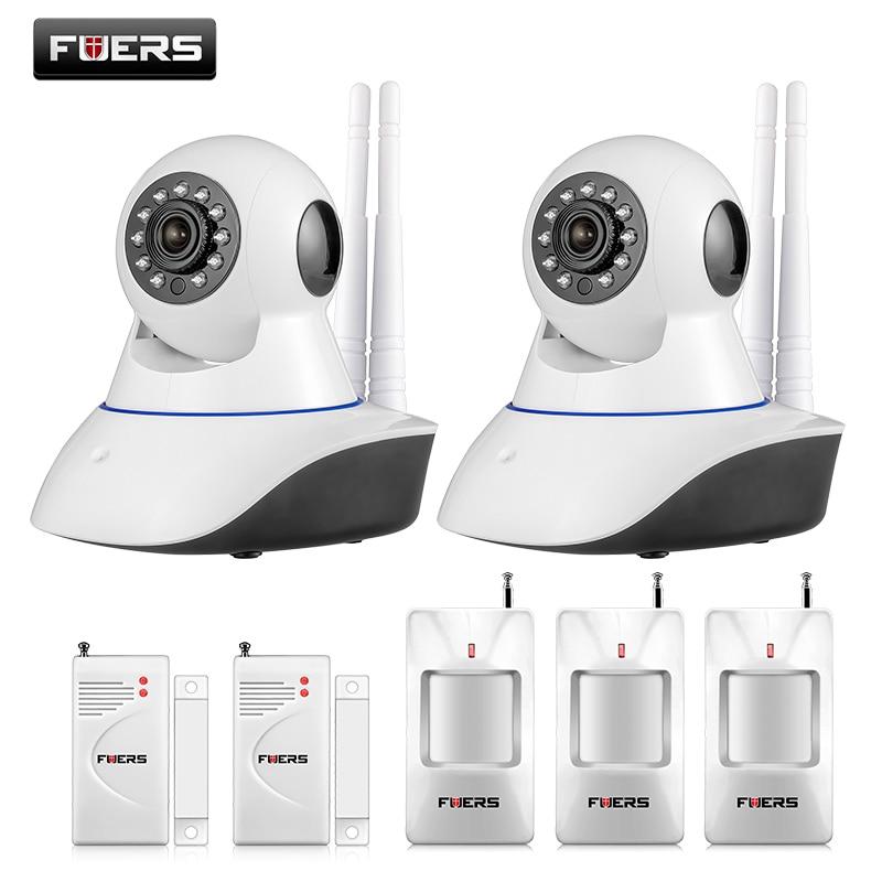bilder für Fuers Android IOS APP 720 P Ip-kamera WiFi Hause Einbrecher kamera Alarmanlage mit PIR Bewegungsmelder tür lücke schließen sensor