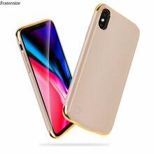 Ince Kaplama darbeye dayanıklı pil şarj cihazı iPhone için kılıf XR XS Maksimum Şarj Edilebilir Güç Banka iPhone X XS Şarj Kapak Çapa
