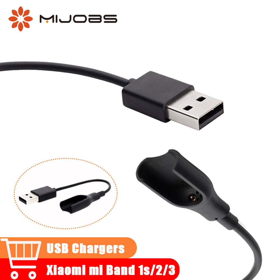 Mijobs 1PCS USB Cable Charger Mi Band 3 Charging Adapter For Xiaomi Mi Band 1S Cord Replace Mi Band 2 Smart Watch Strap Bracelet