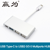 Type C to USB3.0 USB2.0 4 Ports HUB Multiport Adapter Charging Port Data Transmission for MacBook Air Pro 10Gpb/s Type-C HUB