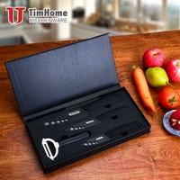 Multi function 4 PCS ceramic knives set cutting fruit with EVA gift box