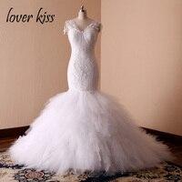 คนรักจูบVestido De N Oiva p rincesaดอกไม้ที่สวยหรูลูกไม้ชุดแต่งงานM Ariageธีมเจ้าสาวหรูหราทรัม