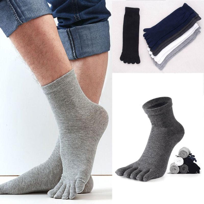 Bigsweety 1 Pair New Autumn Winter Warm Unisx Style Socks Men Women Five Finger Pure Cotton Socks Accessories 6 Colors Underwear & Sleepwears