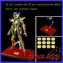 MODELLO FAN 12 pz/lotto oro di saint seiya myth cloth di azione del giocattolo di EX del basamento contiene 12 pz metallo Costellazione targhette
