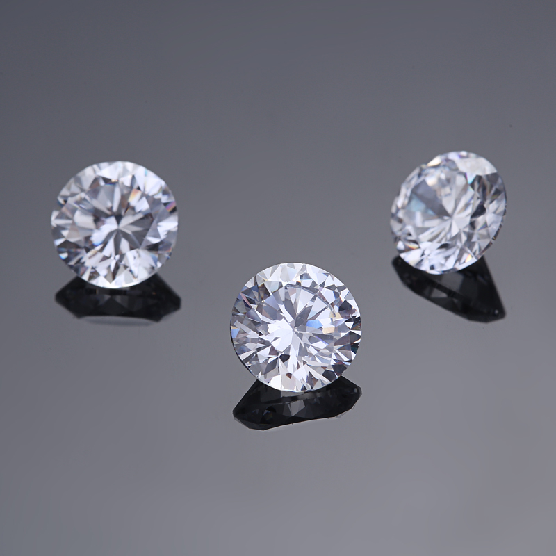 Lots Brilliant Clear Loose Stones Cubic Zirconia Crystals Jewelry DIY Craft Gift