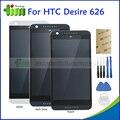 Para htc desire 626 626g 626 w 626d 626 t d626w display lcd touch screen digitador assembléia substituição + quadro preto azul branco + ferramenta