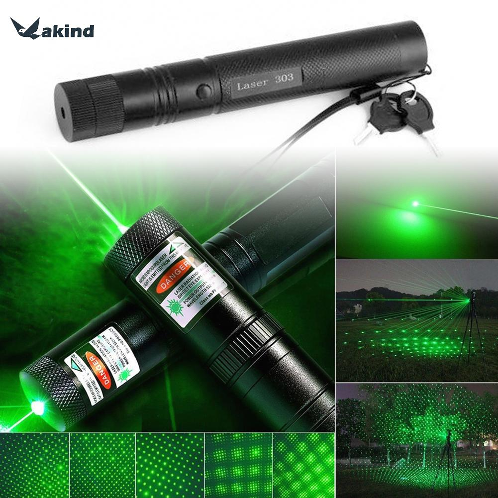 303 Laser Flashlight 500m to 10000m 532nm Hanging Green Laser Pointer Pen Visible Beam Light High Quality