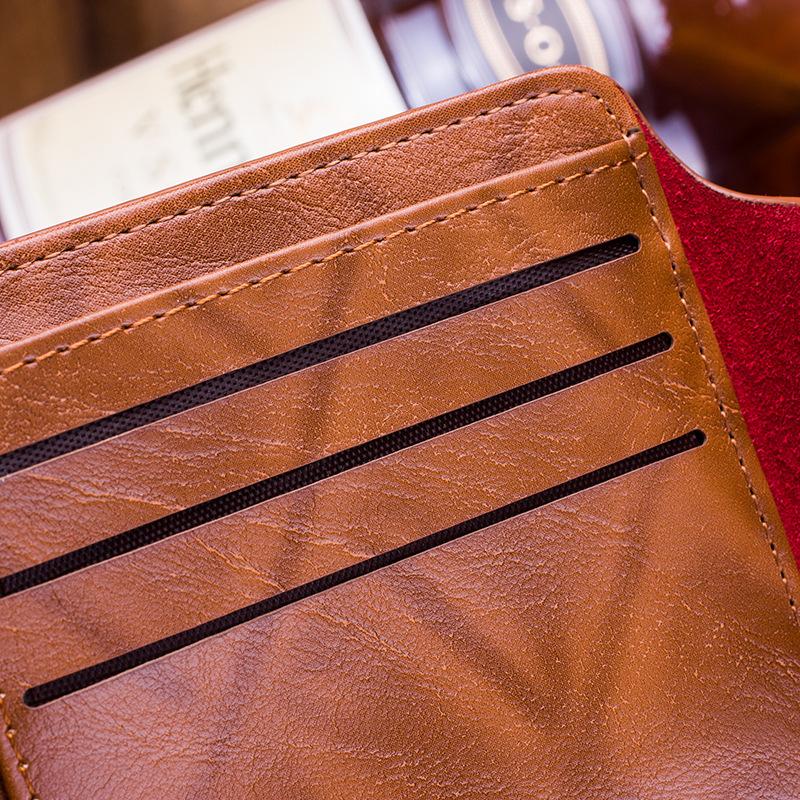 Men Vintage Wallet PU Leather Dollar Pattern Designer Men's Wallets Casual Credit Card Holder Purse Wallet For Male Money Bag (5)