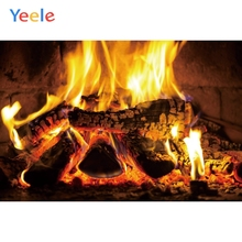 Yeele Fireplace Living Room Fire Wallpaper Vitality Photography Backdrops Personalized Photographic Backgrounds For Photo Studio