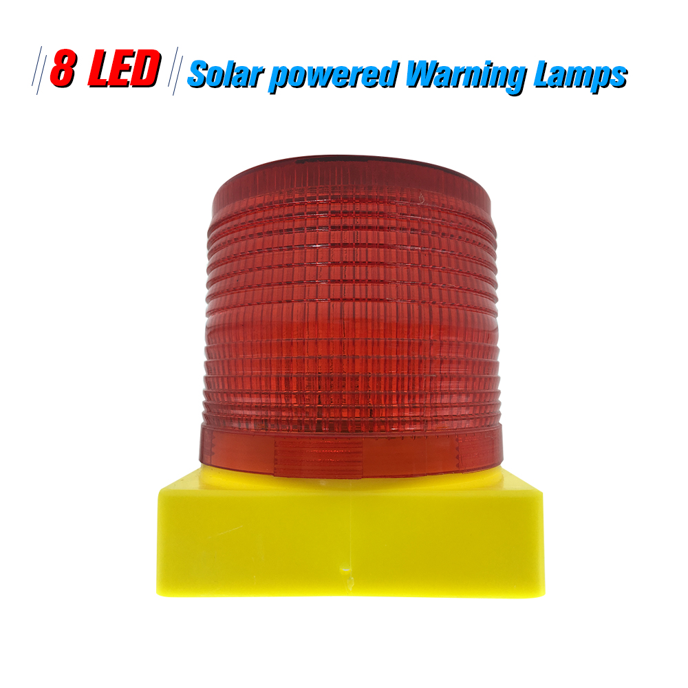 Diligent Solar Warning Lights 8pcs Leds Red Light Solar-powered Warning Lamps Obstruction Lamp/ Beacon Light/ Traffic Warning Lights Back To Search Resultssecurity & Protection Security Alarm