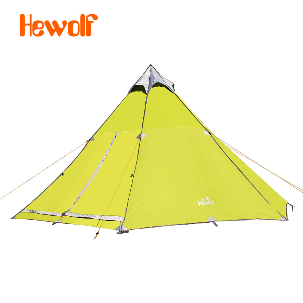 Hewolf yurt tents outside civil air defense 6-8 aluminum alloy safe rain tent camping 1658