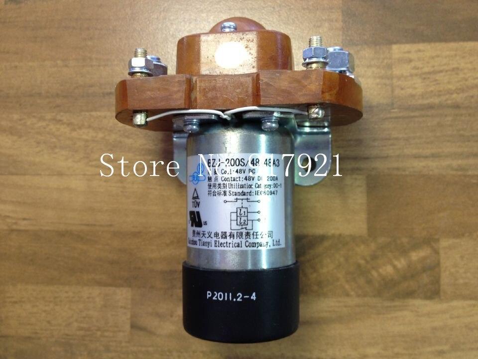[ZOB] Guizhou Tianyi new BZJ200S/48-48A3 DC contactor relay 200A DC48V NC  --2pcs/lot new cad50bdc dc24v tesys d series contactor control relay 5no 0nc