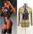 Nova Beyonce Collant Traje Cantora Rendas Recorte Ds Dance Stage Show Roupas