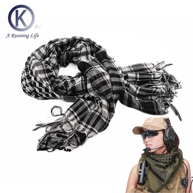 Качество Арабских Шарф Куфия 100% хлопок комфортно шарф спорта песок доказательство Cs Ходу Шарф Открытый аксессуар 110 см * 110 см