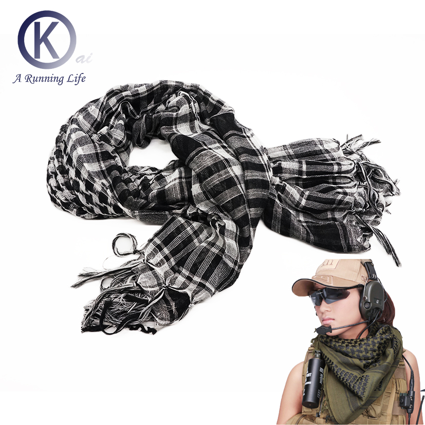 Quality Arab Scarf Kaffiyeh 100% cotton comfortable sport scarf sand proof Cs Go Scarf Outdoor accessory 110cm*110cm mydyicat 8 110cm