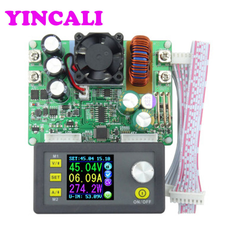 High Accuracy Constant Voltage DC Current Step-down Power Supply DPS5015 Module Buck Voltage converter Color LCD Voltmeter 30pcs lot by dhl or fedex dps3005 communication function step down buck voltage converter lcd voltmeter 40%off