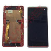 LCD For HTC Desire 600 LCD Display With Touch Screen Digitizer Frame Complete Red Color Free