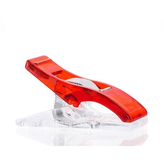10pcs/lot Tape Bias Maker DIY Job Foot Case Supplies Plastic Clip Hemming Sewing Tools Sewing Accessories Fabric Clover Mar