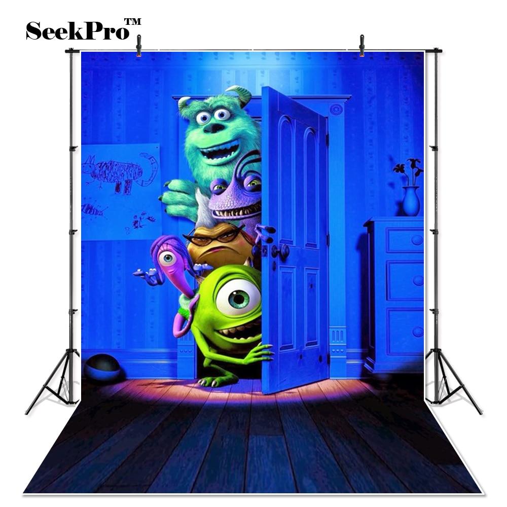 Thin Vinyl Monsters Inc Boo Sulley Mike Bedroom Door Magic Photography Studio Backdrops Camera Photo Studio Photo Backgrounds Background Aliexpress