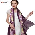Ladies Scarves Big Size 170*75 cm Pashmina Shawl for Women Bandana Wrap Newborn fulares mujer shemagh Flower Silk Scarves