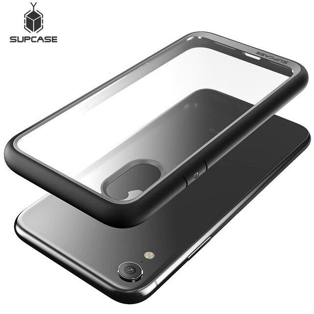 Supcase para o iphone xr caso capa 6.1 polegada ub estilo premium híbrido proteção magro claro caso de telefone para iphone xr 2018