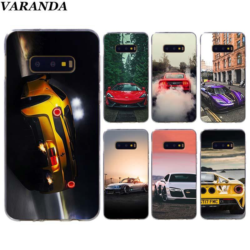 100% De Qualité Sport Auto Lampe Téléphone étuis Pour Samsung Galaxy S10 Plus S10e S8 S9 Plus S6 S7 Bord A50 Note 8 9 Tpu Coque En Silicone Avec Des MéThodes Traditionnelles
