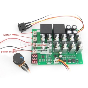Image 3 - DC 10 55V 12V 24V 36V 48V 55V 100A Motor Speed Controller PWM HHO RC Reverse Control Switch With LED Display