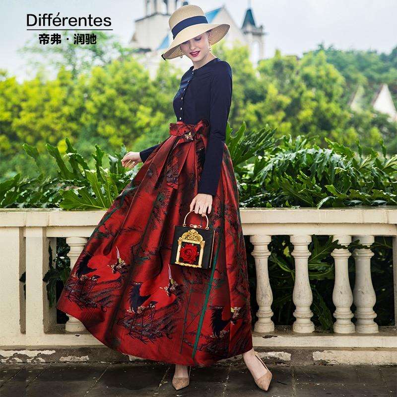 284a183eca4 7000 Taille Nuit Robe Mode Soirée Maxi Cou Robes Parti Nouvel Arc Longueur  Tendance Pleine 2018 O An Mince TUwqp77