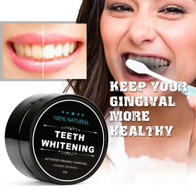 Teeth Whitening Scaling Powder Bamboo Oral Teeth Care Cleaning