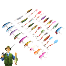 30pcs/lot Fishing Lure Triangle Barbed Treble Hooks Minnow Popper Spinner Spoon Metal Lure Artificial 130g Hard Fishing Lures